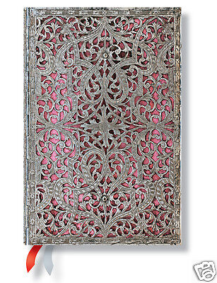 Paperblanks 2015 Day Planner Blush Pink Filigree Mini Size Week At A Time New