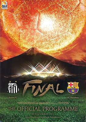 FIFA CLUB WORLD CUP FINAL 2011 BARCELONA v SANTOS OFFICIAL MINT PROGRAMME