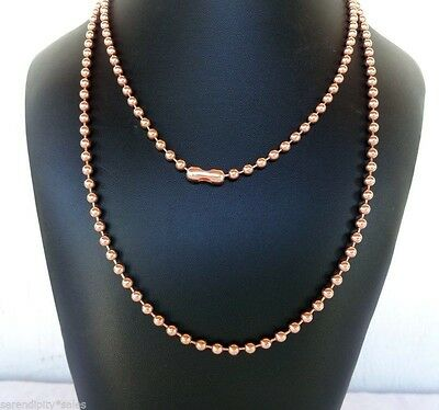 "Solid COPPER BALL CHAIN Necklaces 4.5mm ~3/16"" bead #10 Choose length + Quantity"