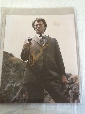CLINT EASTWOOD as DIRTY HARRY autographed 8x10 color photograph