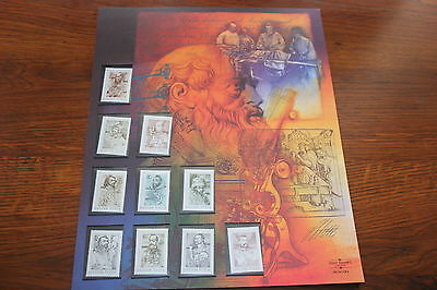 MINT STAMPS OF THE WORLD MEDICAL PIONEERS  COLLECTOR STAMP SHEET  1990