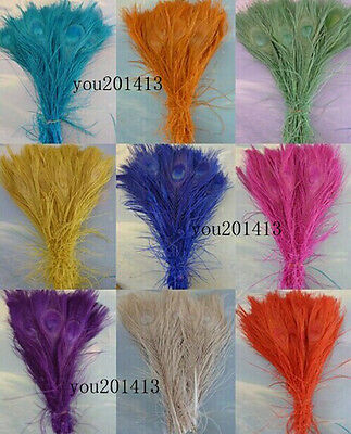Beautiful 10-100pcs natural peacock tail feathers 25-30cm / 10-12inch