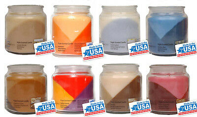 Luxury Wax Candle Glass Jar Triple Scented & Layered Candles 15oz by Mainstays