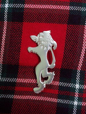 Scottish Lion Rampant Kilt Pin Silver Plated/Highland Kilt Pin Lion Rampant 4""