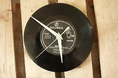 "Vintage record Vinyl 7"" single Clock  Columbia retro green black"