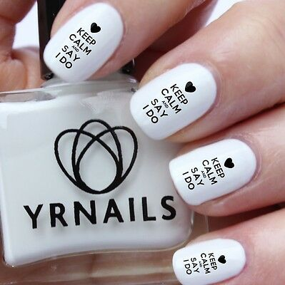 Nail Art Water Transfers Decals Keep Calm And Say I Do S957