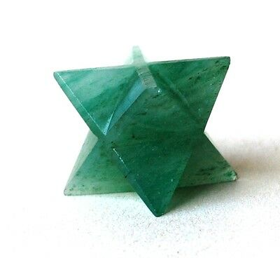 Reiki Energy Charged Green Aventurine Merkaba Star Natural Crystal Healing