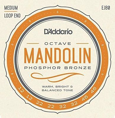 D'Addario EJ80 Phospher Bronze Octave Mandolin Strings. 8 String, Loop End Set.