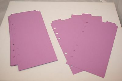 12 Orchid Filofax Personal size Tabbed dividers monthly subject top tab