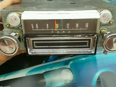 67 COUGAR or MUSTANG Working AM 8-Track OEM Radio for Console or non Console