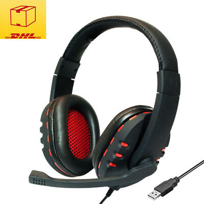 LogiLink Stereo High Quality Multimedia USB Headset Kopfhörer PC VoIP Gaming