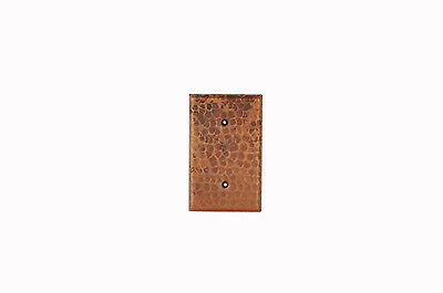 Premier Copper Products SB1 Blank Hand Hammered Copper Switch Plate Cover