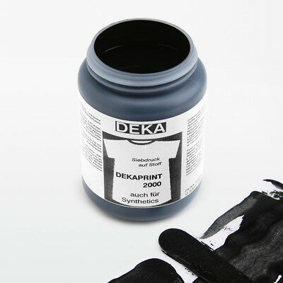 1L Ink Dekaprint Screen Printing Color Black Colour for T-Shirts/Pockets