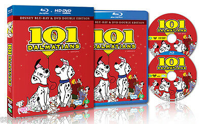 Disney Original Classic 101 Dalmatians - Blu Ray + DVD Disc Set -Region 0 (NEW)