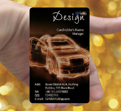 Black HOT 200pc Frosted Transparent PVC Plastic Business Cards Full Colors Print