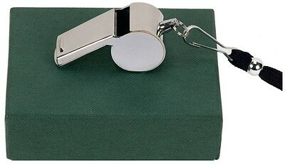 Personalised Chrome plated referee whistle  Engravable
