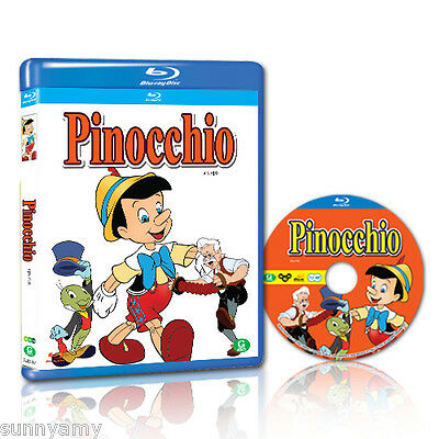 Disney's Classic Pinocchio - Blu Ray - Region Free (NEW) I want to be a real boy