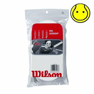 New Wilson Pro Overgrip 30 Pack Tennis Over Grip - Comfort -  White