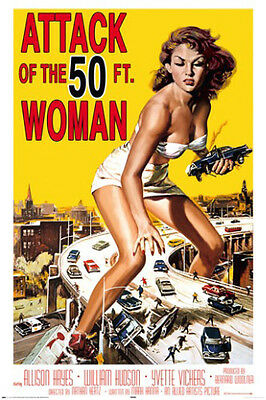 ATTACK OF THE 50FT. WOMAN POSTER (91x61cm) RETRO MOVIE NEW LICENSED ART
