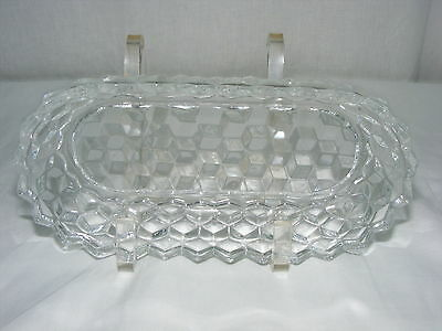 """Vintage American Fostoria Clear 8"""" Oval Pickle Relish Bowl"""