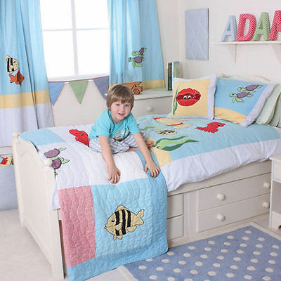 Babyface Sea Bedding Curtains Duvets Quilts Cushions Childrens Boys Single & Cot