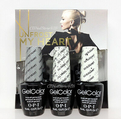 OPI Gelcolor - Gwen Stefani Holiday 2014 - UNFROST MY HEART 3pc Pack x 0.5oz