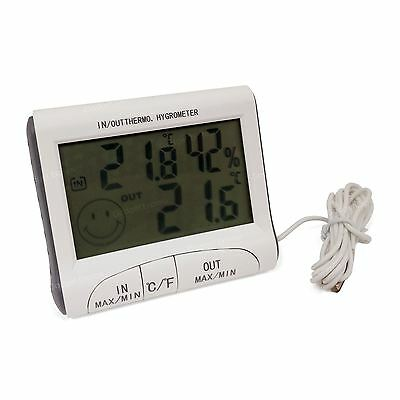 Digital Thermometer Humidity Meter Kitchen Room Indoor Outdoor Hygrometer