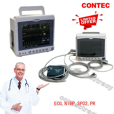 CONTEC Multiparameter ICU/CCU Patient Monitor,ECG+NIBP+Pulse Rate+SPO2,Promotion