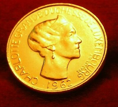 Or/gold  Pl  5  Francs Luxembourg  Grande  Duchesse 1962  Or/gold  Pl