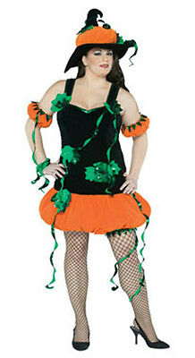 Pumpkin Witch Plus Size Adult Costume
