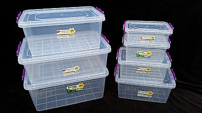 +small medium large Clip lock plastic clear storage food box container with lid