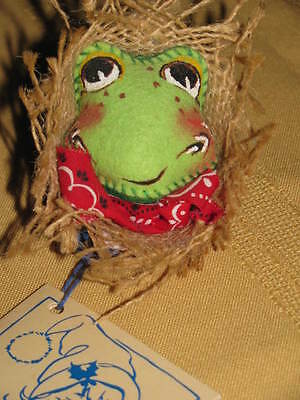 ANNALEE PIN HEAD SCARECROW FACE STRAW HAT 1994 VINTAGE WT HAND PAINTED