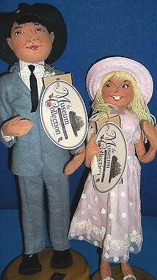 """ANNALEE MUSEUM COLLECTION  1959 STORE COUPLE/LMTD ED /CERT AUTH """""""" M I N T """""""""""