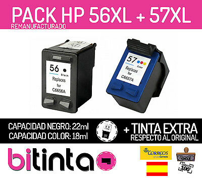 Pack cartuchos compatibles HP 56 (C6656AE) + HP 57 (C6657AE) PSC1315