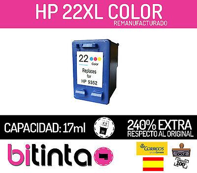 Cartucho Compatible 22XL (C9352AE) Color para HP Deskjet F2280