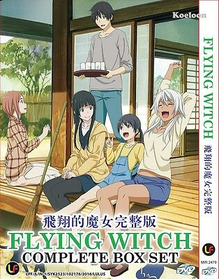 DVD Japan Anime FLYING WITCH Complete Series (1-12 End) English Sub, All Region