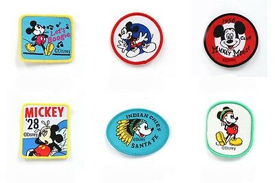 6 Style Cute Disney Mickey Mouse Embroidered Sew ON Patch Cloth Sew Applique