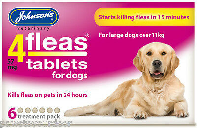 Johnsons 4FLEAS tablets large dog 6 tablet pack flea treatment