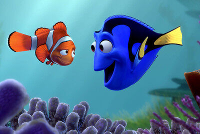 "Home Decor - Photos 8.5 x 11 Scrapbooking - ""Nemo and Dory"""