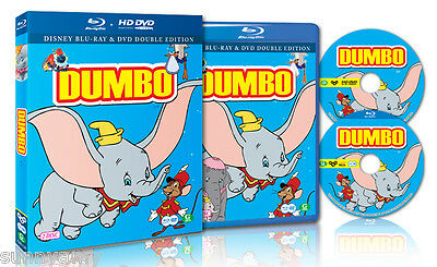 Disney's Classic - Dumbo - Blu ray + DVD 2 Disc Set - Region Free - Lovely Film!