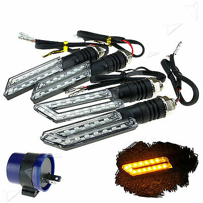 4 x 12V 15LED Turn Signal Indicators Motorcycle/Bike/Motorbike With Relay