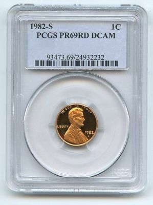 1982 S 1C Lincoln Cent Proof PCGS PR69DCAM