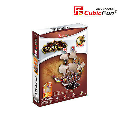 Puzzle Cubic Fun 111 Teile - 3D Puzzle - May Flower (Schwierigkei... (41947)
