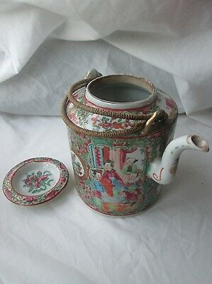 Antique 19th Century Chinese Canton Famille Rose Teapot.