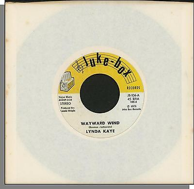 "Lynda Kaye - Wayward Wind + Funny Little World - 1975, 7"" 45 RPM Single!"