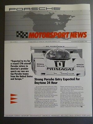 1990 Porsche Motorsport News Folder.Brochure -- RARE!! Awesome L@@K 11/12 1990
