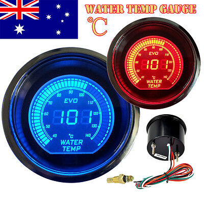 "CAR AUTO 40 ~ 140 CELSIUS BLACK 2"" 52mm WATER TEMP TEMPERATURE GAUGE AU STOCK"