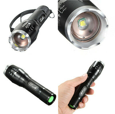 1800Lm Tactical CREE XML T6 LED 5 Mode 18650 Flashlight Torch Lamp New