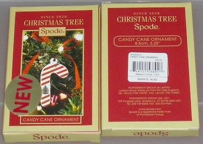 "Spode-Famous for their popular Christmas Tree~""Candy Cane Orn.""-#XT5243-X NIB"