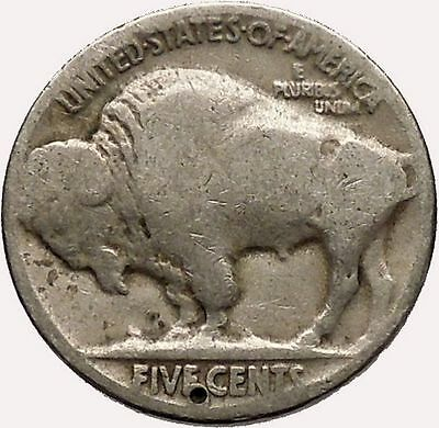 1923 BUFFALO NICKEL 5 Cents of United States of America USA Antique Coin i43596